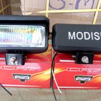lampu tembak kotak + topi kaca pelangi buat motor dan mobil universal