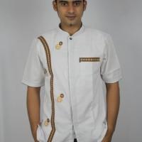 Baju Lebaran Koko Bordir Premium Lengan Pendek Katun Pilihan