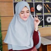 Khimar Bella 2 Layer - Khimar Bergo Dua layer - Jilbab Instan Khimar