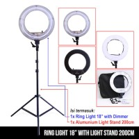 Ring Light 18 inch with Light Stand 200cm