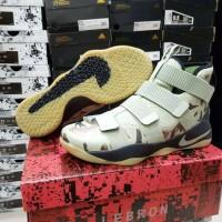 Sepatu basket Nike lebron soldier 11 camo white green