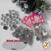 Aplikasi mutiara blink jeruk 14mm per pack