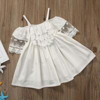 Princess lace dress / dress anak import murah / dress sabrina anak