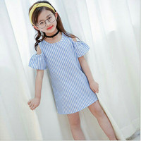 Line dress / dress anak import murah
