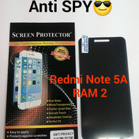Anti Gores Screen Protector SPY Hitam Xiaomi Redmi Note 5A ( RAM 2 )