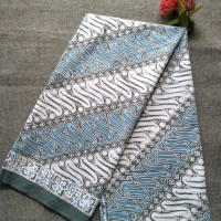 kain batik parang indigo - Biru Muda