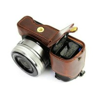 HALF CASE LEATHER BAG CAMERA SONY A6000 A6300 COVER