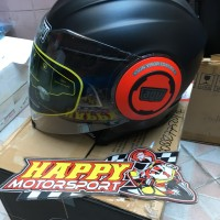 Helm halfface dual visor AGV Italy size M L XL black matt red FLUID SV