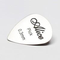 Pick Gitar Logam Besi Metal Stainless Steel Alice Guitar Picks 0.3mm