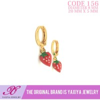 Anting anak Lapis emas Perhiasan imitasi Gold 18k Yaxiya Jewelry 156