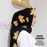 Hijab square segi empat maple black cantik
