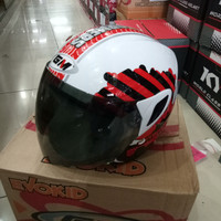 HELM GM ANAK TRANSFORMER, WHITE/RED