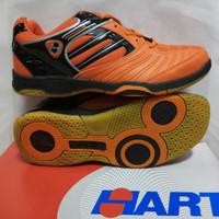 "New sepatu Badminton HART"" 505 Black/orange"