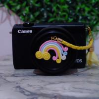 Lens cap holder / tali tutup lensa yellow rainbow
