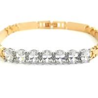 Gelang Rantai Diamond Simple Chain Bracelet - Two Tone