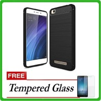 IPAKY Carbon Shockproof Hybrid Case for Xiaomi Redmi 5A - Free Tempere