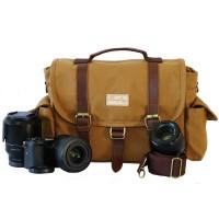 Tas Kamera Firefly Denver Khaki / tas kanvas kulit