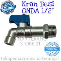 Kran ONDA BC 1/2 Gagang Pendek Keran Besi Tembok Dinding 1/2 in BC1/2