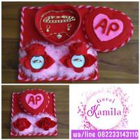 nampan tempat kotak perhiasan love ring box cincin bunga mawar rose