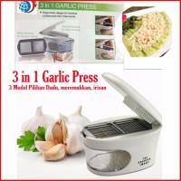 rumah tangga 3 In 1 Garlic Press Alat Iris Bawang Dengan 3 Pilihan