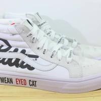 Sepatu Vans x Patta Mean Eyed Cat High Triple White - Premium