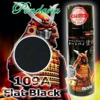 Cat Semprot samurai/pilox 109A hitam doff/flat black