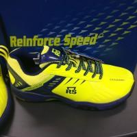 Sepatu Badminton RS Reinforce Speed SND 603 LTD Lemon Biru Tua Ori