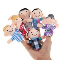 Boneka Jari Anak Finger Family 1 set isi 6 pcs / Mainan Anak Finger