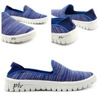 Pluvia - Sepatu Sneakers Slip On Wanita Canvas Casual Santai US101