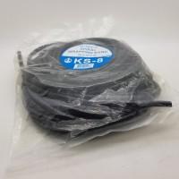 HITAM 8 mm 10 meter Spiral wrapping band / pelindung kabel