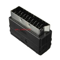 SCART Male Plug to 3 RCA Female A/V Audio Video Adaptor Converter for