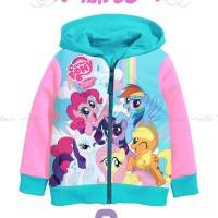 Jaket Hoodie Anak Perempuan HM38 1th-6th Frozen/Little Pony/Tsum