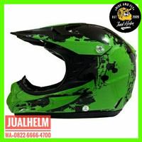 Helm Snail 309 Hijau Green / Helm Full Face / Helm Cross