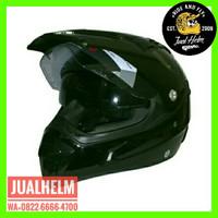 Helm Snail MX311 Hitam Black / Helm Full Face / Helm Cross