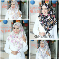Hijab jilbab kerudung segi empat bahan Vine murah motif abstrak SF26