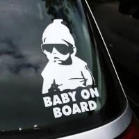 Stiker Unik Kaca Mobil Cutting Sticker Baby on Board