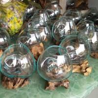 pengerajin aquarium kaca tiup akar kayu bali Small