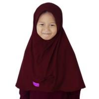 ANAK MUSLIM - Kerudung Jilbab Anak Murah Polos Pita Cantik Merah Cabe