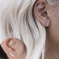 Anting simpel garis aksesoris wanita earring simple anting korea