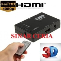 HDMI Switch 3 to 1 Remote Adapter FullHD 1080P Selector Hub Terminal