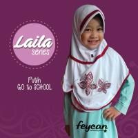 Jilbab I Kerudung Anak Feycan, Usia 9-12 tahun I Laila series - Putih
