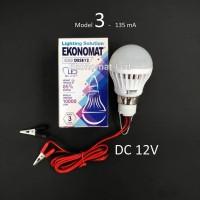 Lampu LED Ekonomat DESE12 3W DC 12V Aki Solar Cell Panel Surya Capit
