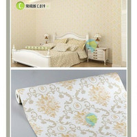 classic gold flower 45cm x 10mtr || Wallpaper dinding
