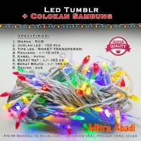 Lampu Natal RGB Kabel Putih Susu 100 LED 10 Meter + Colokan Sambung
