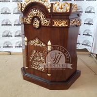 mimbar ukir masjid, mimbar khutbah, mebel jepara