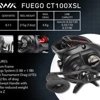 Reel Baitcasting Daiwa Fuego 100 XSL