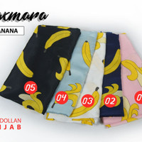 Jilbab Maxmara Motif Banana Segi empat