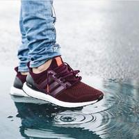 Adidas Ultra Boost 2.0 Maroon Premium Original / Sepatu Sneakers