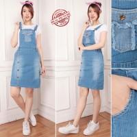 Overall Short Jeans Ochi Short Dress Wanita