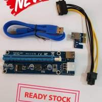 PCI-E Riser Card 1X to 16X SATA 15pin to 6pin VGA GPU Mining